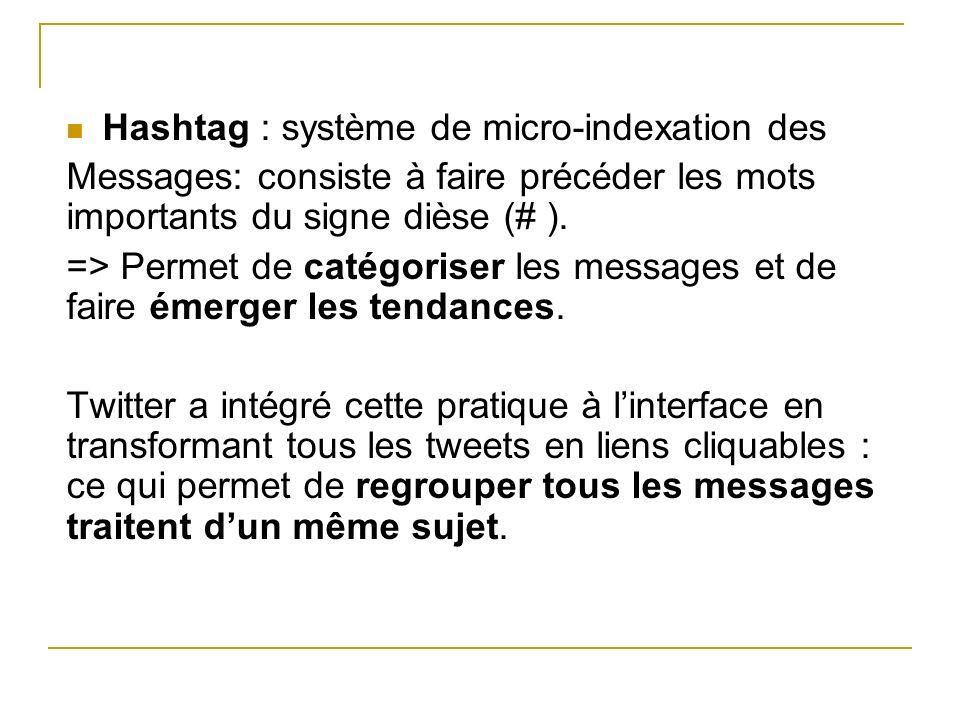 Hashtag : système de micro-indexation des