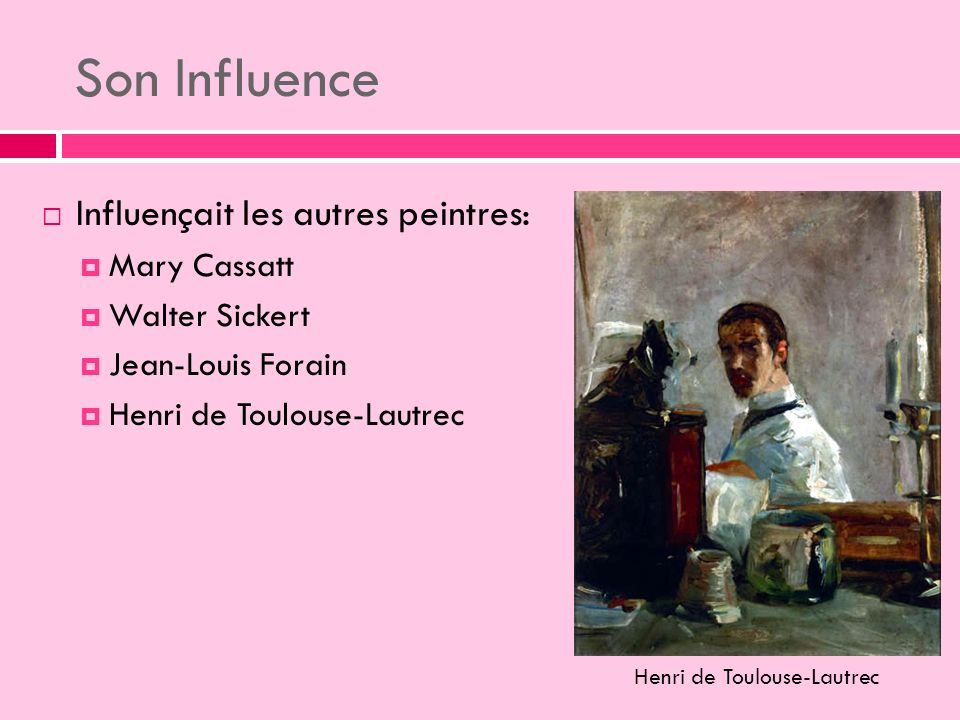 Son Influence Influençait les autres peintres: Mary Cassatt