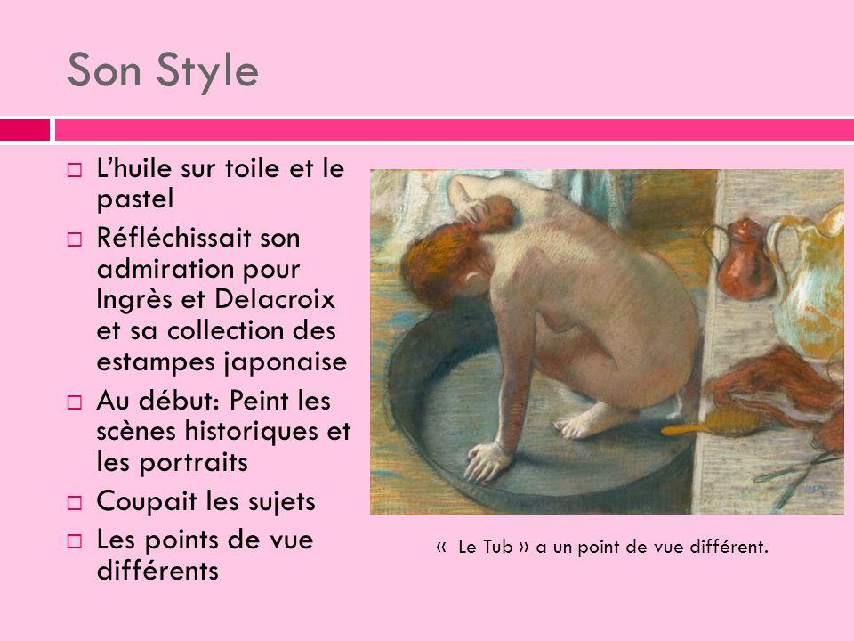 Son Style L'huile sur toile et le pastel