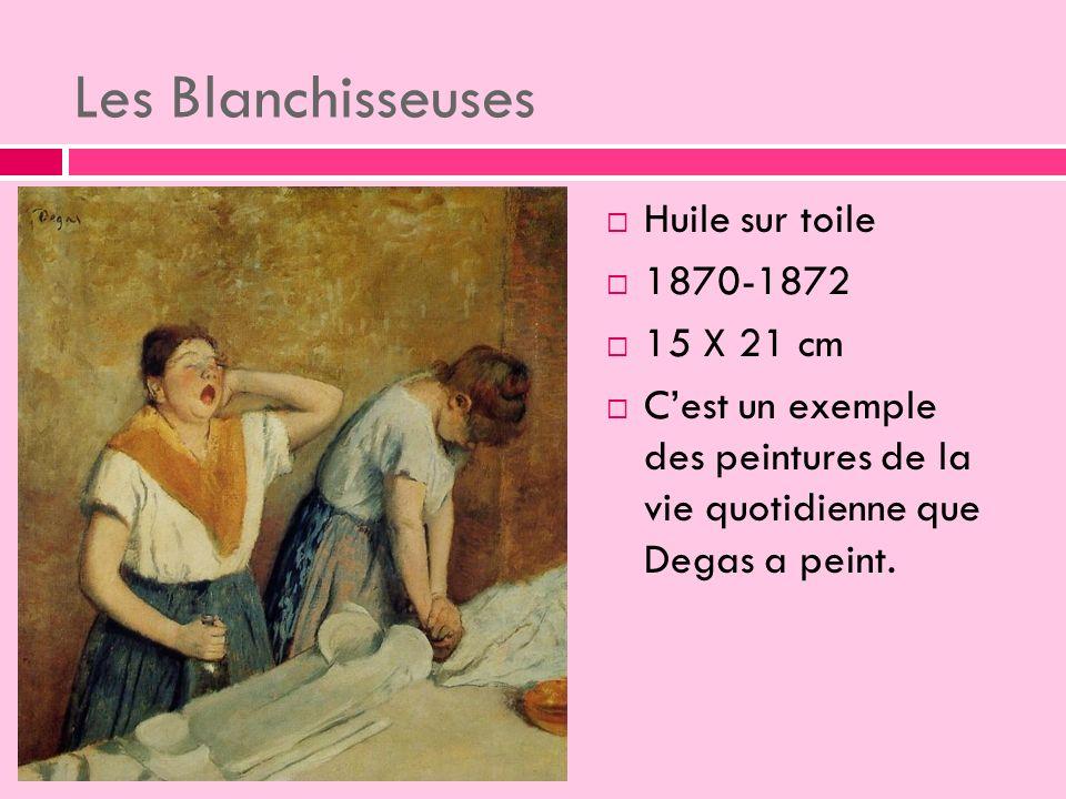 Les Blanchisseuses Huile sur toile 1870-1872 15 X 21 cm