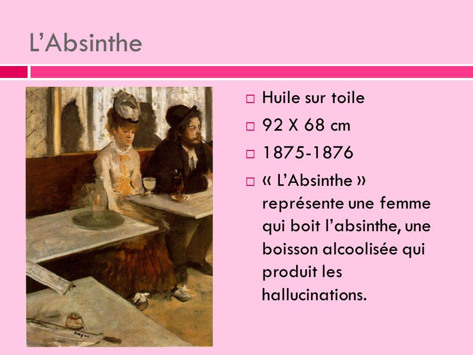 L'Absinthe Huile sur toile 92 X 68 cm 1875-1876