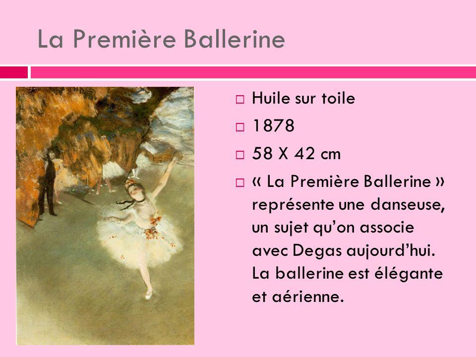 La Première Ballerine Huile sur toile 1878 58 X 42 cm