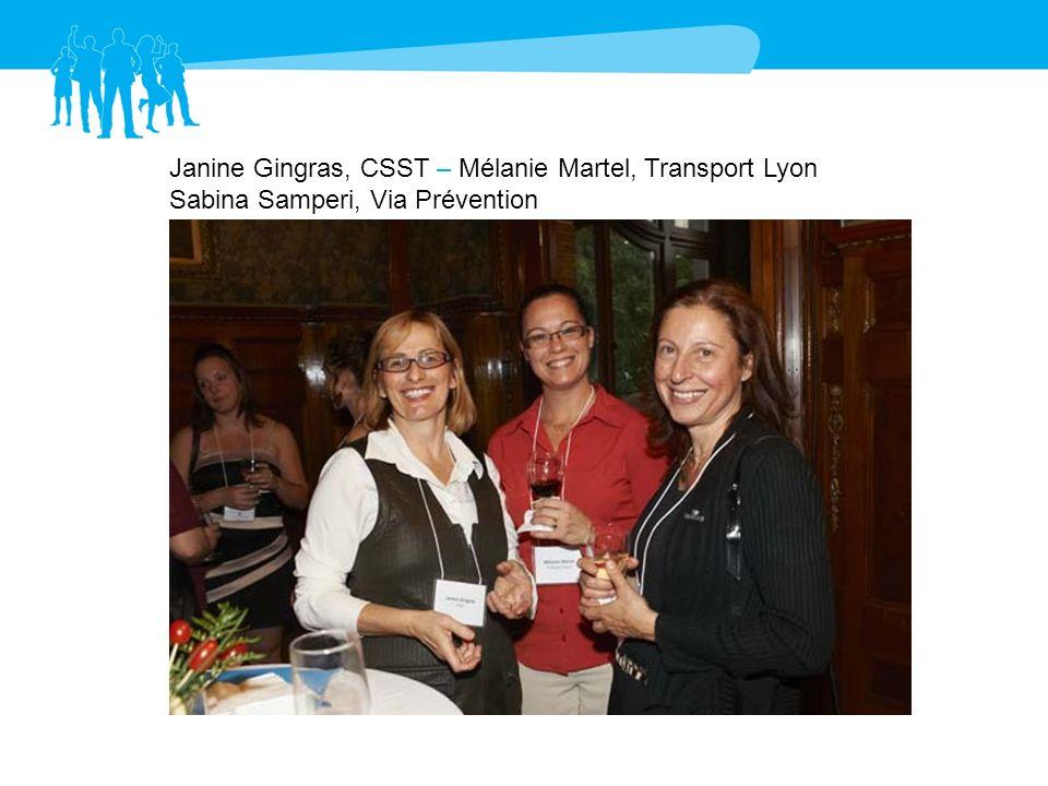 Janine Gingras, CSST – Mélanie Martel, Transport Lyon
