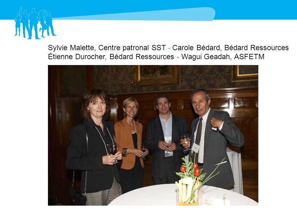 Sylvie Malette, Centre patronal SST - Carole Bédard, Bédard Ressources