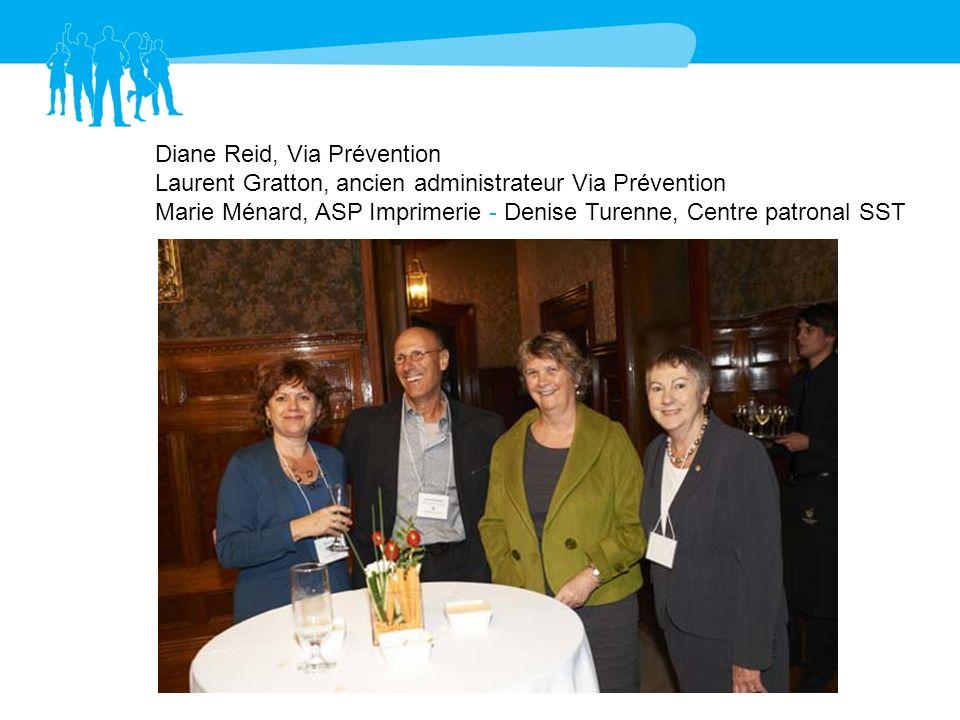 Diane Reid, Via Prévention Laurent Gratton, ancien administrateur Via Prévention
