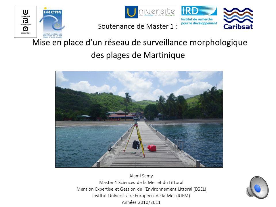 Soutenance de Master 1 : Mise en place d'un réseau de surveillance morphologique des plages de Martinique