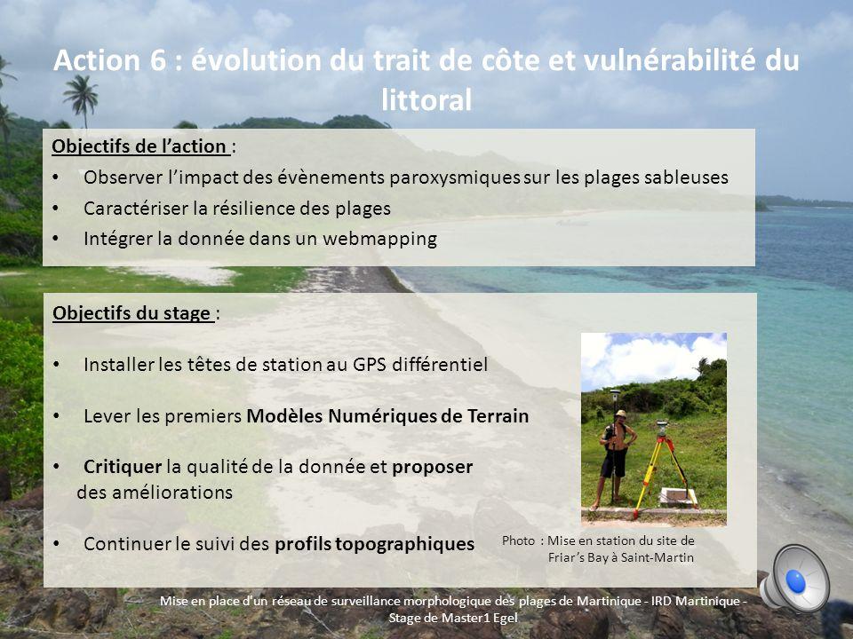 Action 6 : évolution du trait de côte et vulnérabilité du littoral