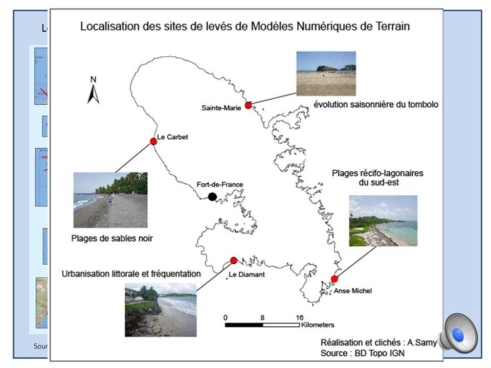 Localisation des profils de plage martiniquais