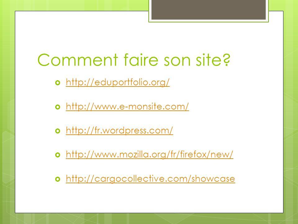 Comment faire son site http://eduportfolio.org/