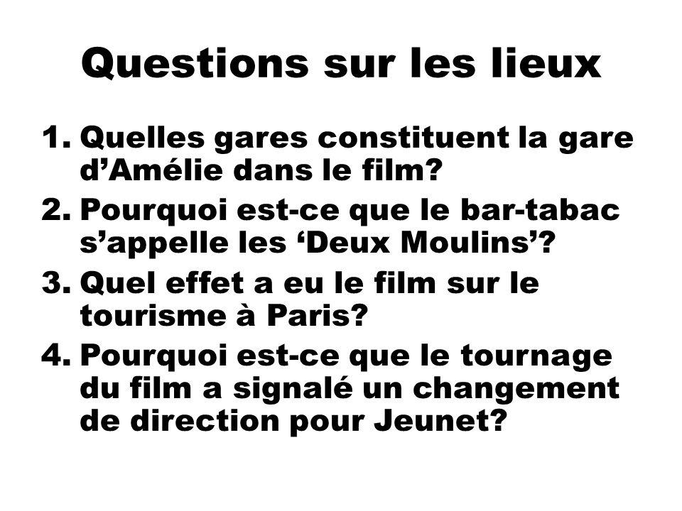 Questions sur les lieux