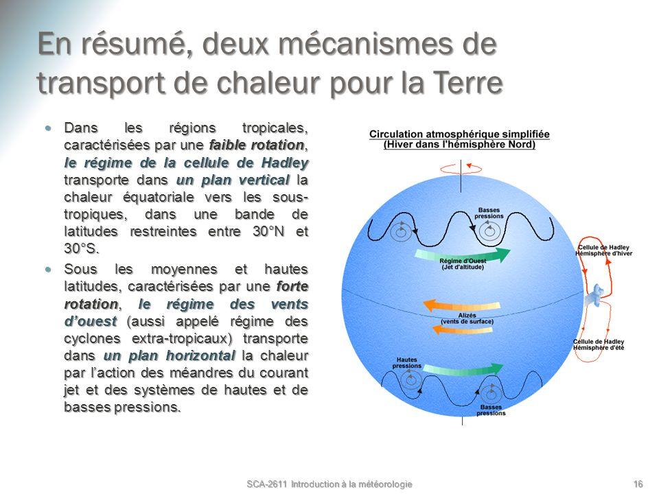 En résumé, deux mécanismes de transport de chaleur pour la Terre