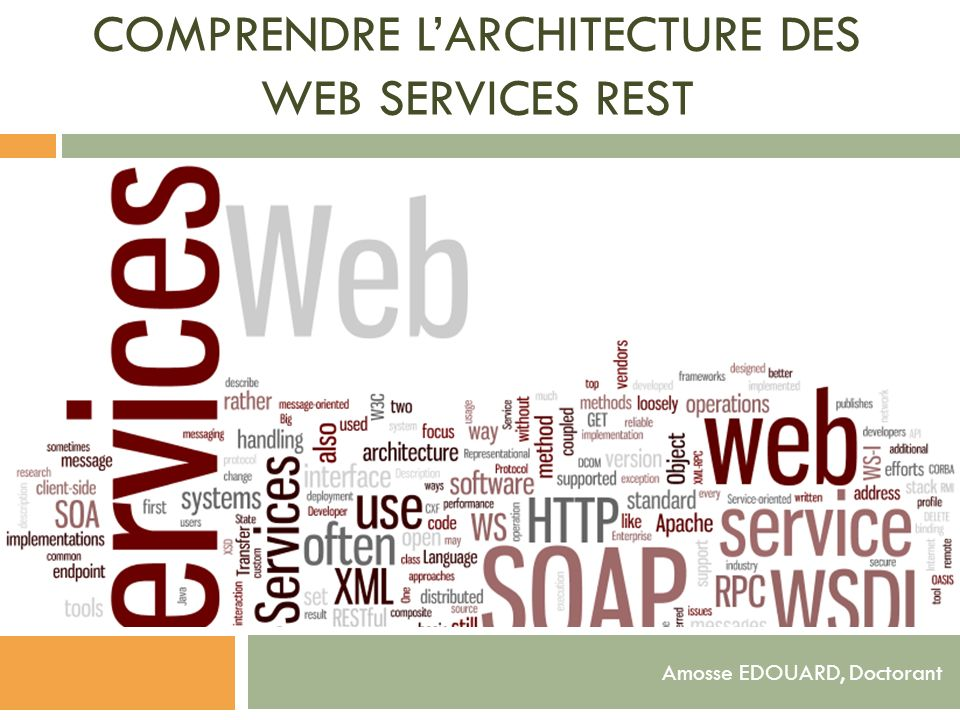 Comprendre l'architecture des Web services REST
