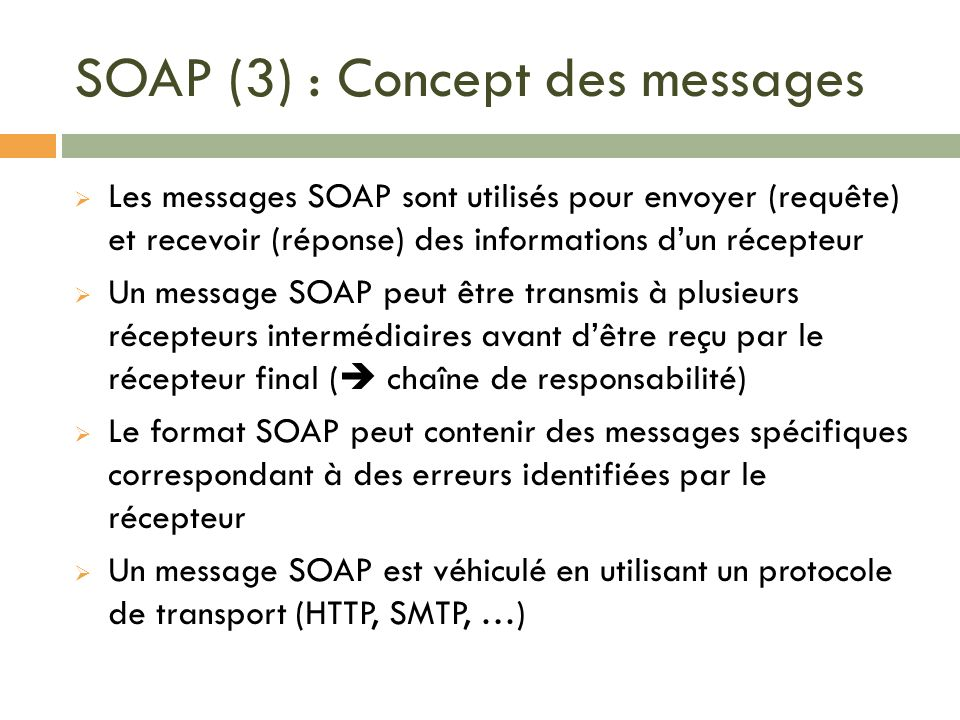 SOAP (3) : Concept des messages