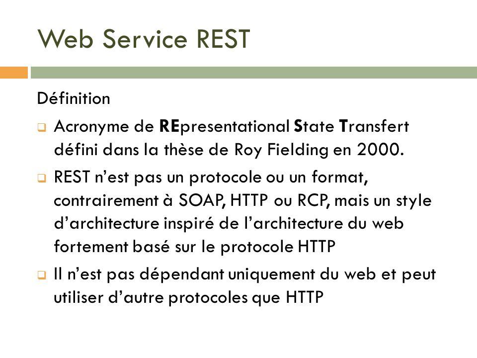 Web Service REST Définition