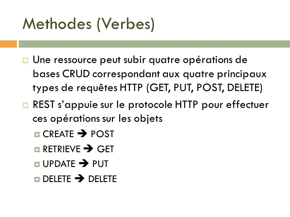 Methodes (Verbes)