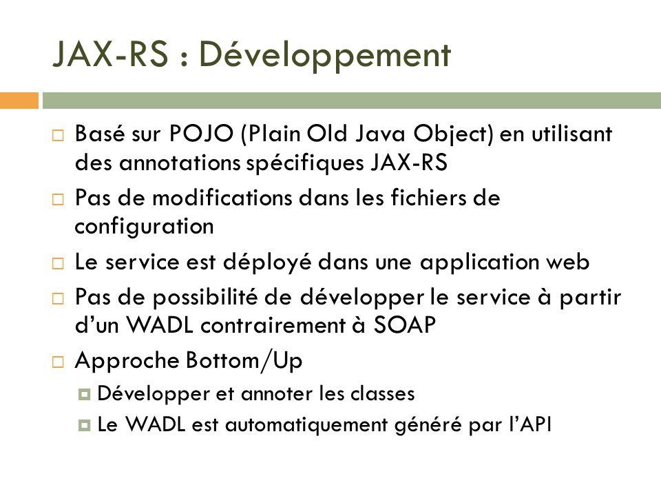 JAX-RS : Développement