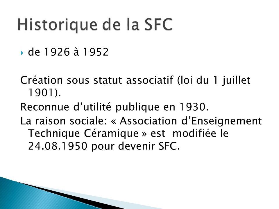 Historique de la SFC de 1926 à 1952