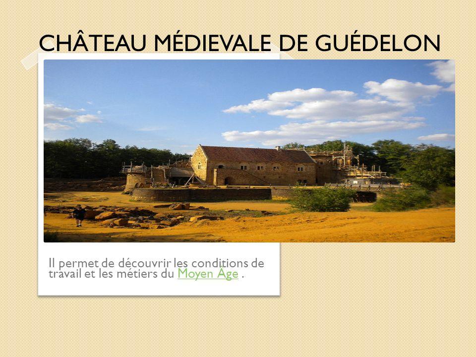 CHÂTEAU MÉDIEVALE DE GUÉDELON