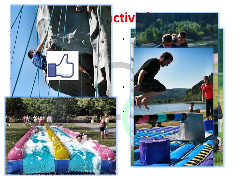 Les activités Plus de 18 activités sont à découvrir.