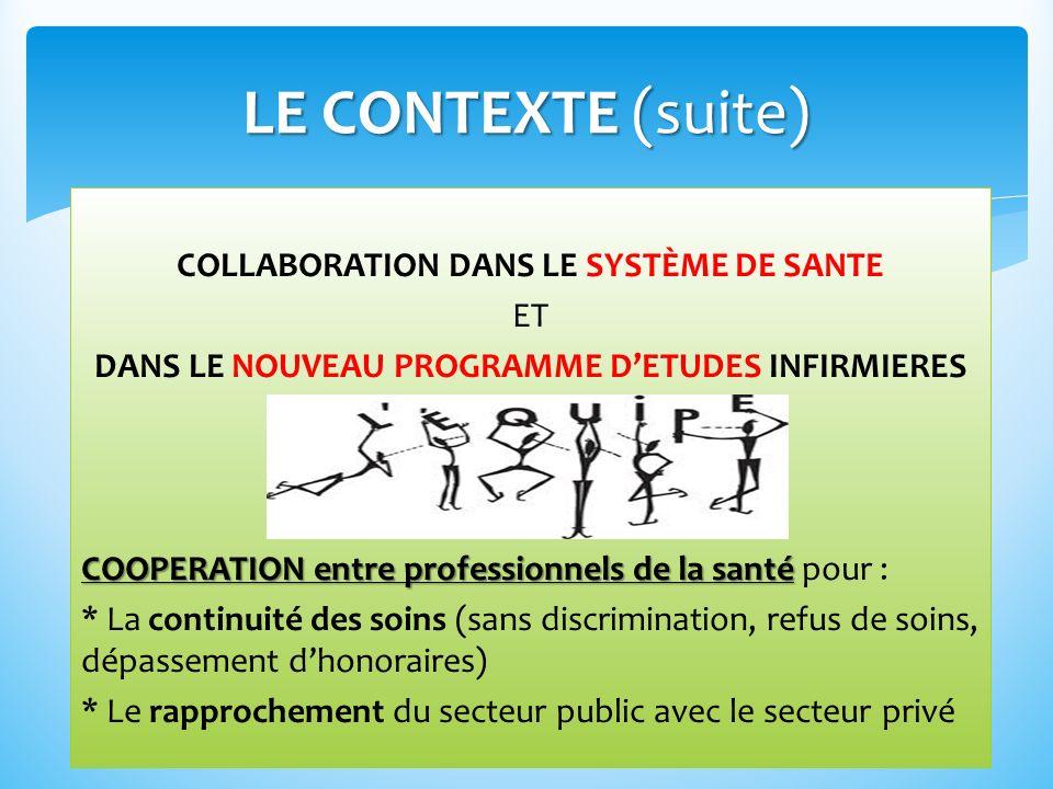 LE CONTEXTE (suite)