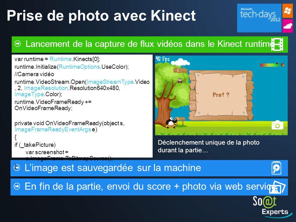 Prise de photo avec Kinect