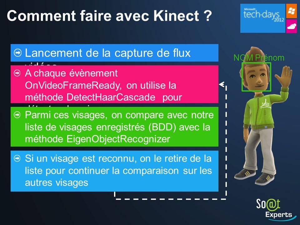Comment faire avec Kinect