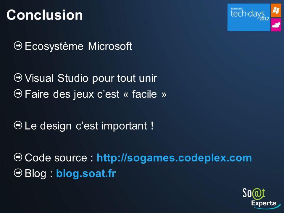 Conclusion Ecosystème Microsoft Visual Studio pour tout unir