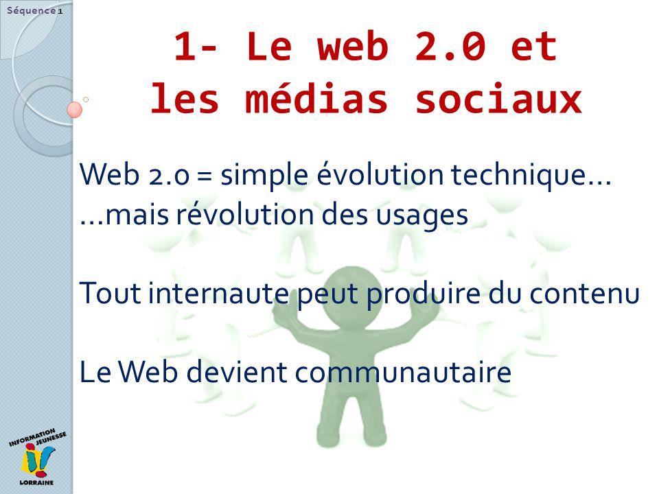 1- Le web 2.0 et les médias sociaux