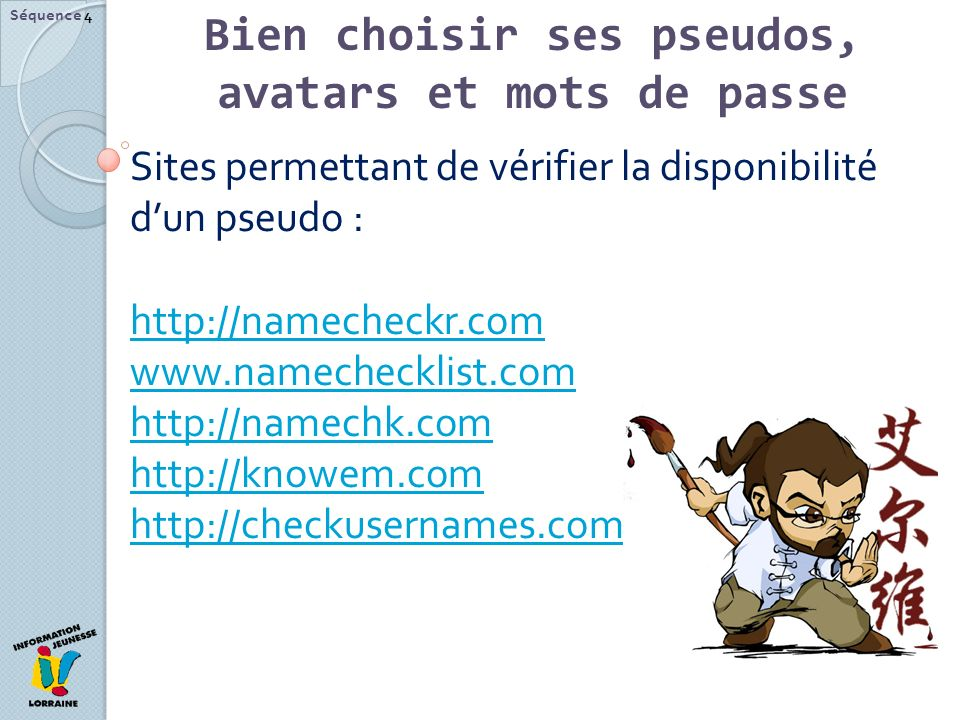 Bien choisir ses pseudos, avatars et mots de passe