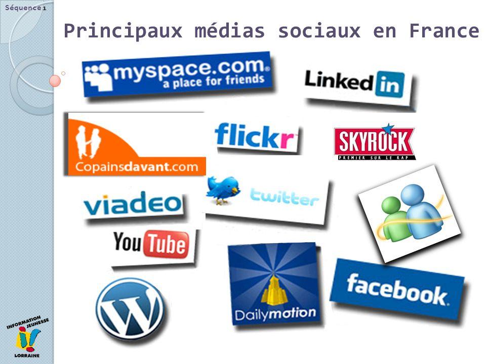 Principaux médias sociaux en France