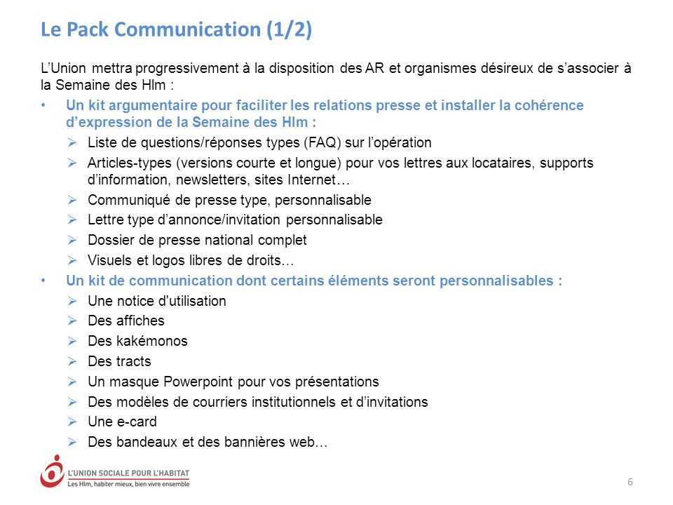 Le Pack Communication (1/2)