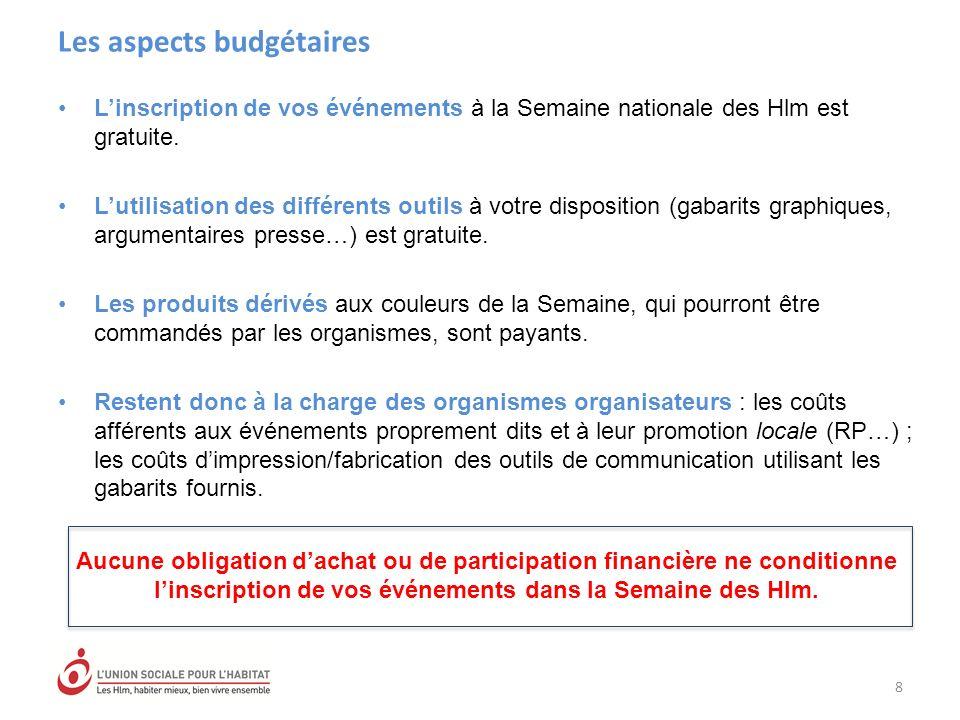 Les aspects budgétaires