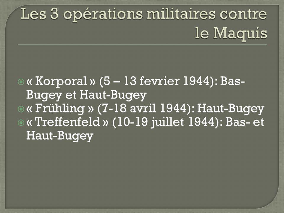 Les 3 opérations militaires contre le Maquis