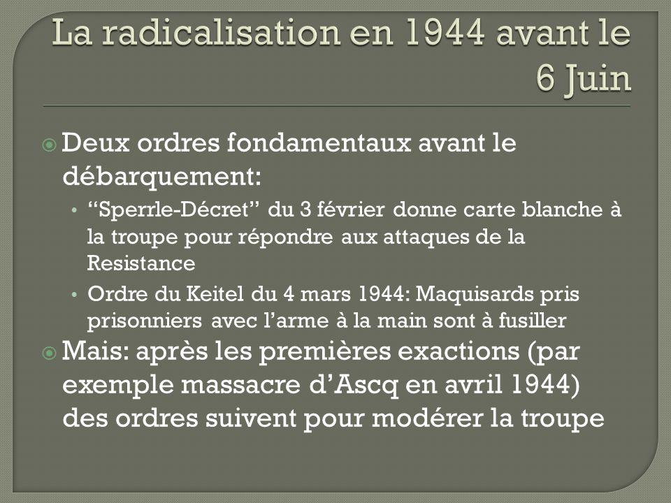 La radicalisation en 1944 avant le 6 Juin