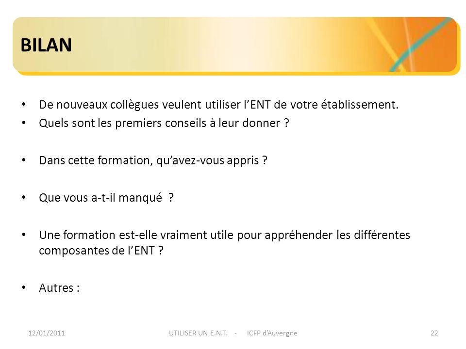 UTILISER UN E.N.T. - ICFP d'Auvergne