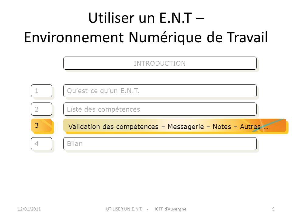 Utiliser un E.N.T – Environnement Numérique de Travail