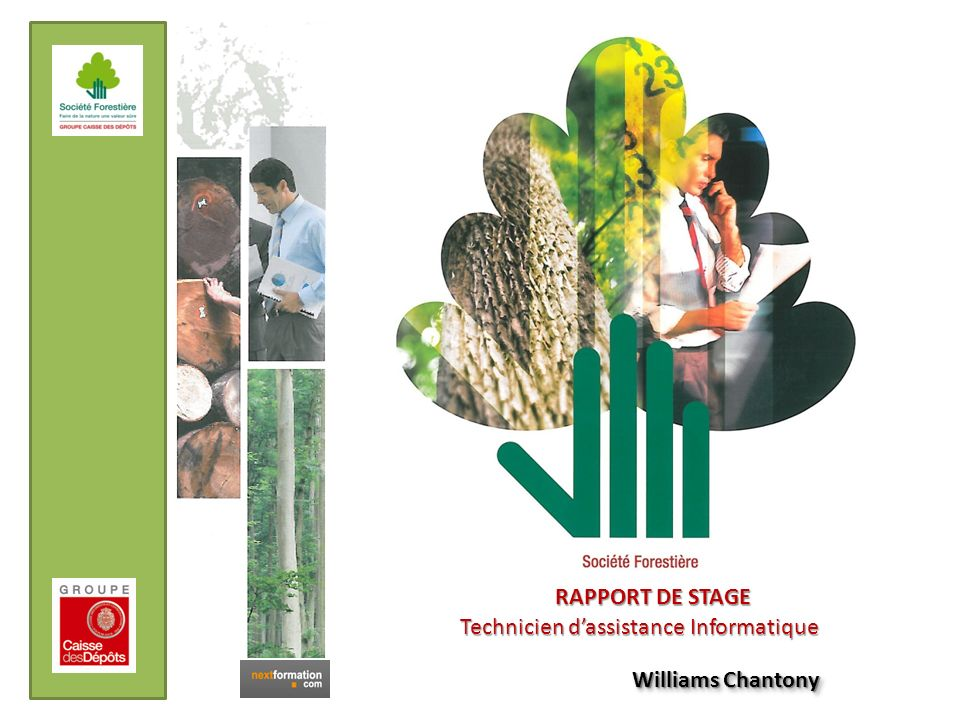 RAPPORT DE STAGE Technicien d'assistance Informatique Williams Chantony