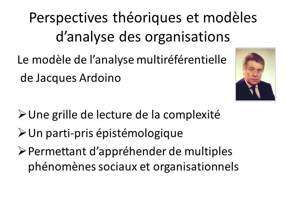 Perspectives théoriques et modèles d'analyse des organisations