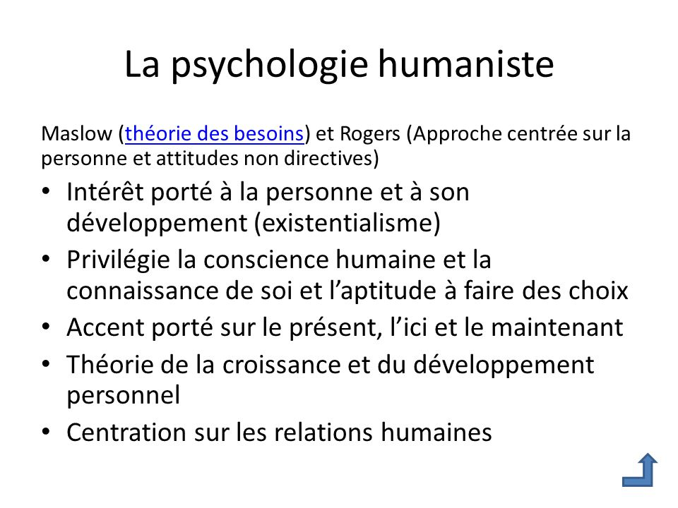 La psychologie humaniste