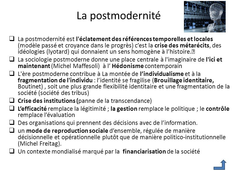 La postmodernité
