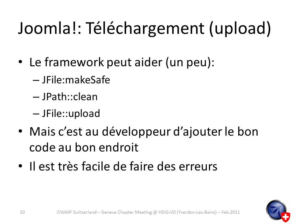 Joomla!: Téléchargement (upload)