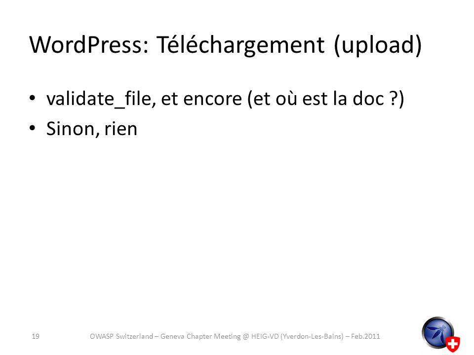 WordPress: Téléchargement (upload)