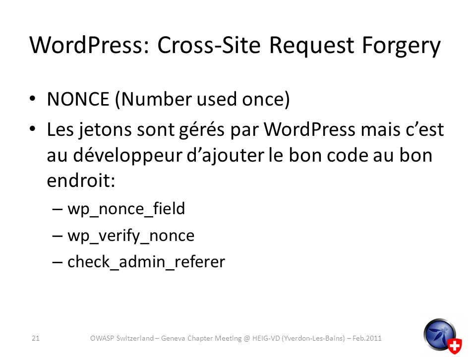 WordPress: Cross-Site Request Forgery