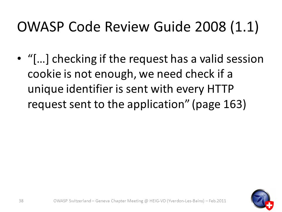 OWASP Code Review Guide 2008 (1.1)