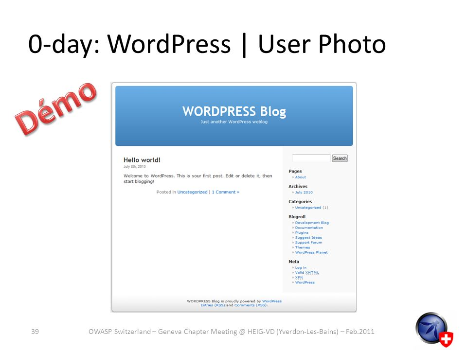 0-day: WordPress | User Photo
