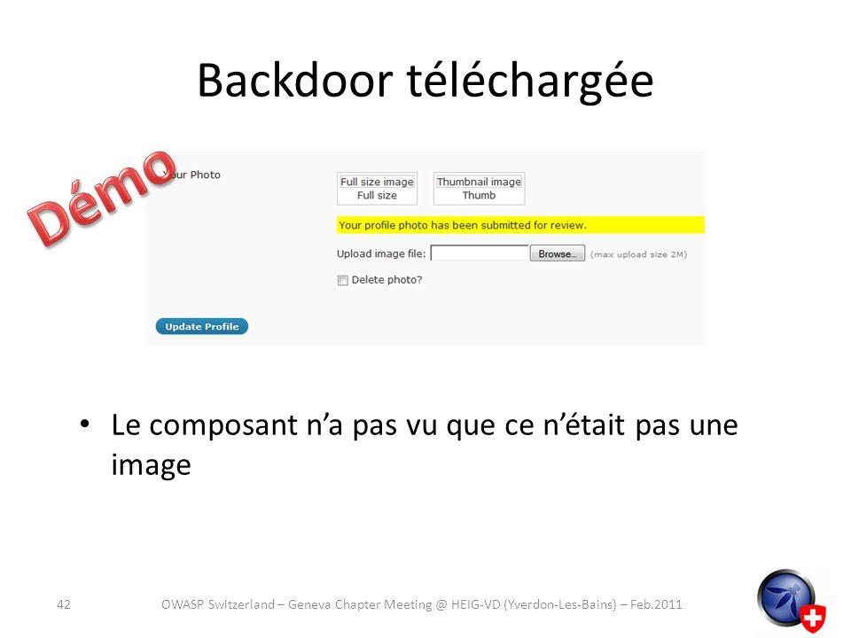 Démo Backdoor téléchargée