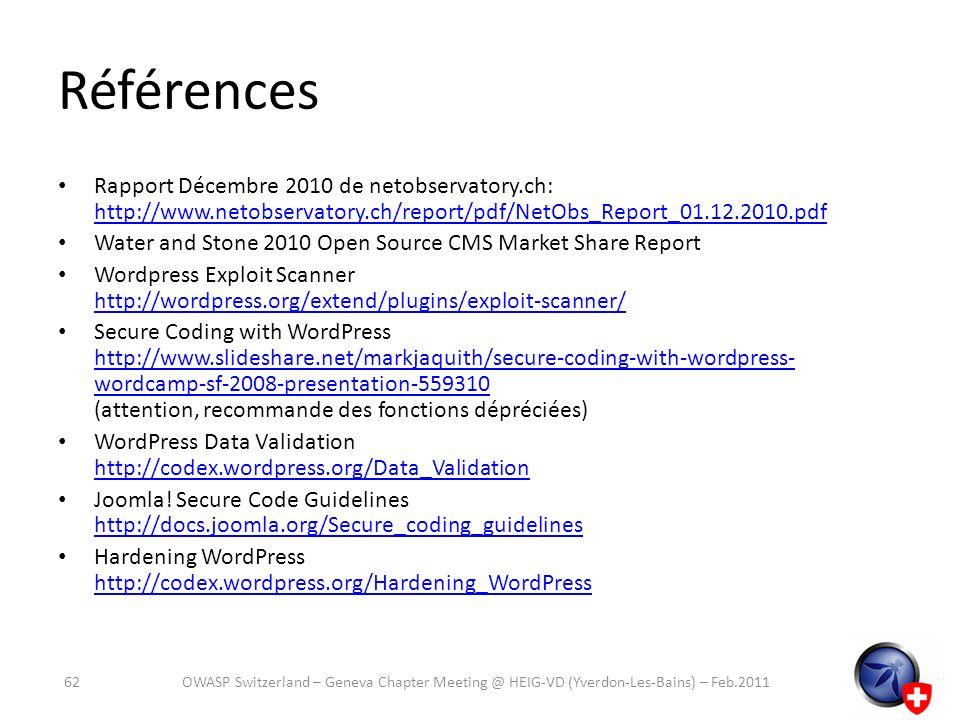 Références Rapport Décembre 2010 de netobservatory.ch: http://www.netobservatory.ch/report/pdf/NetObs_Report_01.12.2010.pdf.