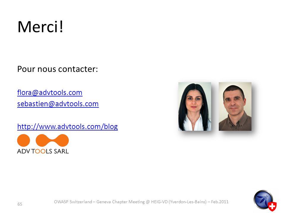 Merci! Pour nous contacter: flora@advtools.com sebastien@advtools.com