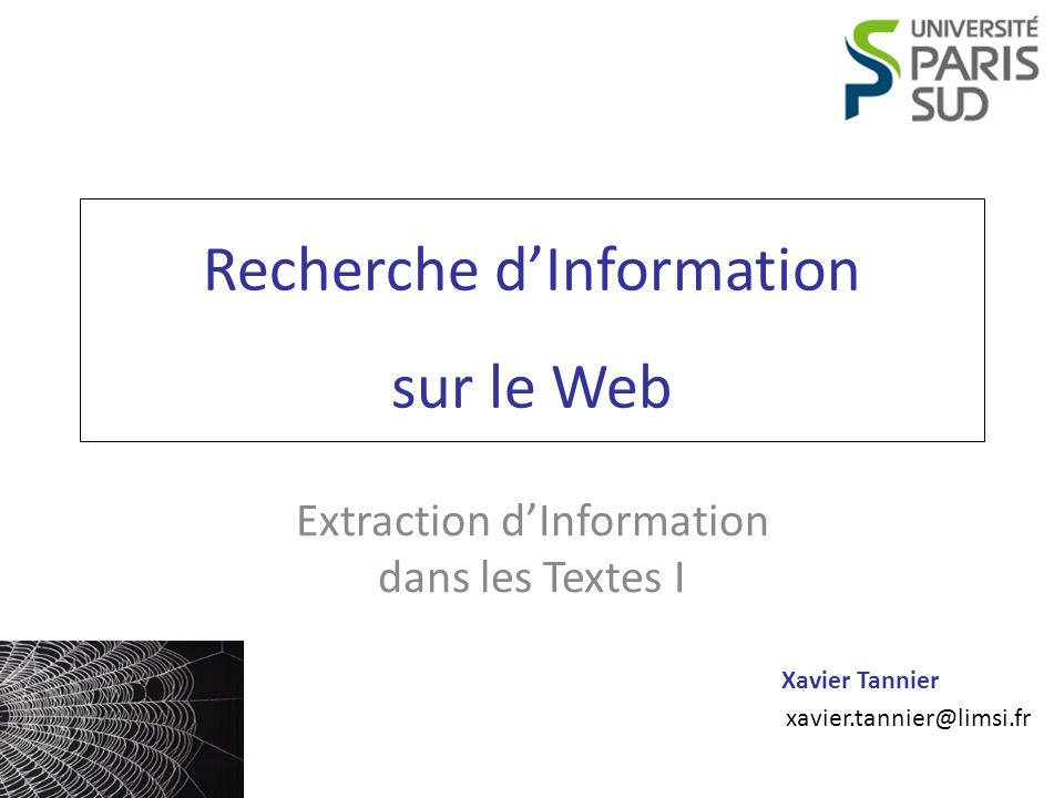 Recherche d'Information sur le Web