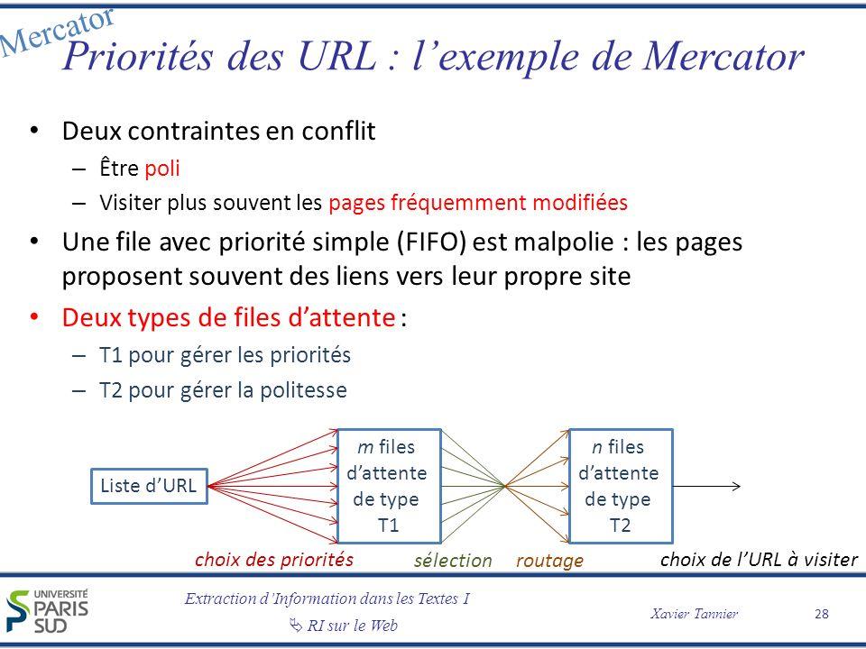 Priorités des URL : l'exemple de Mercator